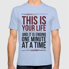 Fight Club - This is Your Life... Tri-Blue LARGE Mens Fitted Tee