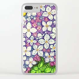 Lilacs for Sally Clear iPhone Case