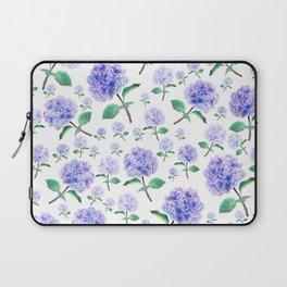 purple blue hydrangea pattern Laptop Sleeve