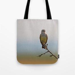 Perched Western Kingbird Tote Bag