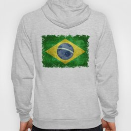 Flag of Brazil with football (soccer ball) retro style Hoody