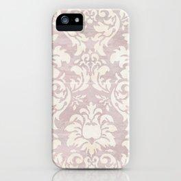 Beige Shabby Damask Pattern iPhone Case