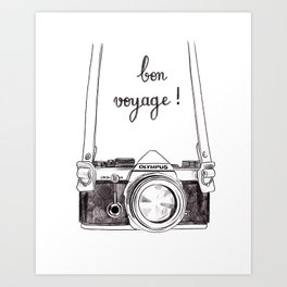 Bon Voyage - Leaving card / Travel / Around the world Art Print