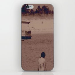 girl on beach iPhone Skin