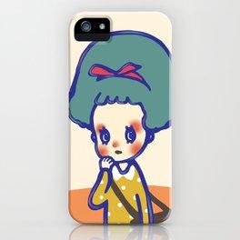 Thinking girl  iPhone Case