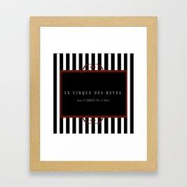 Night Circus Invitation Framed Art Print