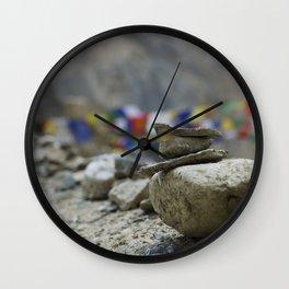 Stacked Stones Wall Clock
