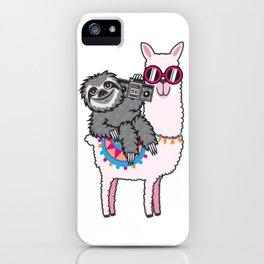 Sloth Music Llama iPhone Case