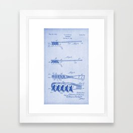 1941 Toothbrush Patent BluePrint Framed Art Print