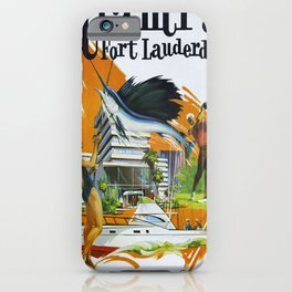 Vintage poster - Miami and Fort Lauderdale iPhone Case
