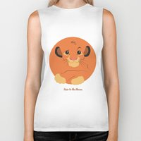 simba Biker Tanks featuring Heir to the throne by eqbal