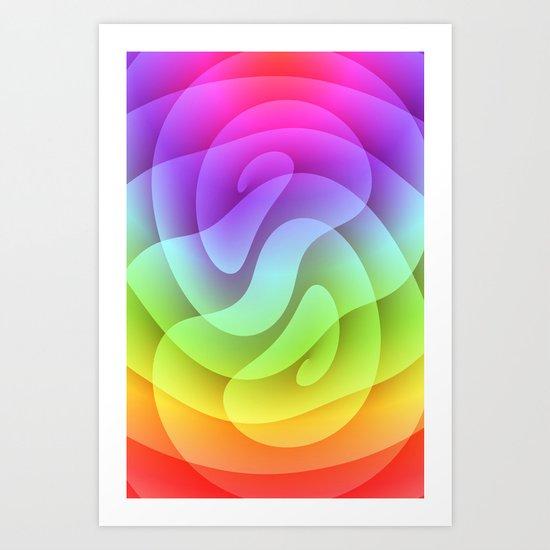 Color gradient 2 Art Print