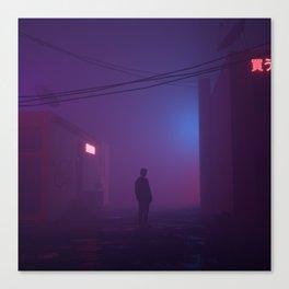 Fog Buildings Canvas Print