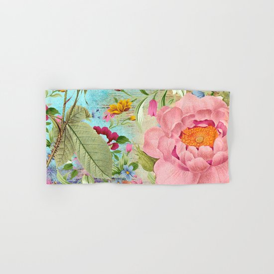 Vintage Flowers #18 Hand & Bath Towel
