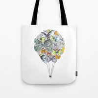 bows Tote Bags featuring Bows & Butterflies by Romina M.
