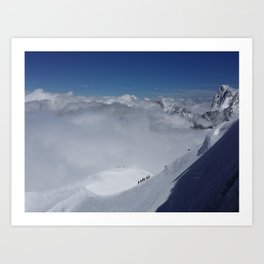 Alpine Mountain Climbers Art Print