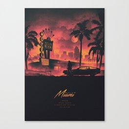 HOTLINE MIAMI 2018 PINK/ORANGE Canvas Print