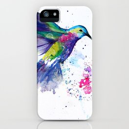 Hummingbird and Flower iPhone Case