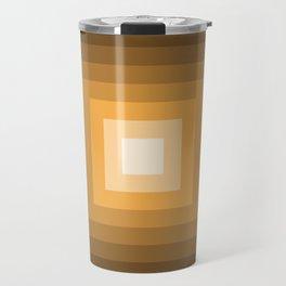 black and orange tunnel Travel Mug