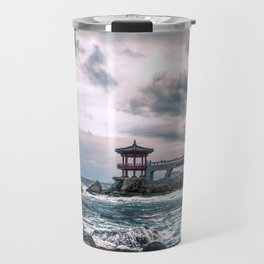 Waves of Adversity Travel Mug