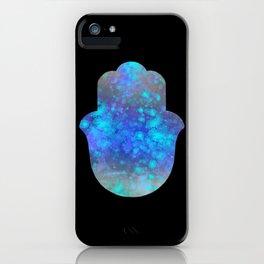 Watercolor Splatter Hamsa Hand iPhone Case