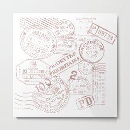 Passport Pink Metal Print