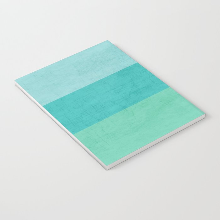 three stripes - teal Notebook