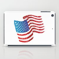 american flag iPad Cases featuring American Flag by Dues Creatius