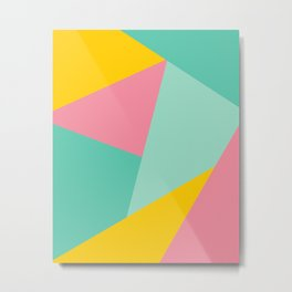 Bight Abstract Geometric Pattern Metal Print