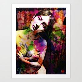 Thoughtful Woman 2 Art Print