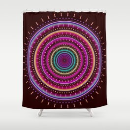 Colorful patterns and textured mandala Shower Curtain