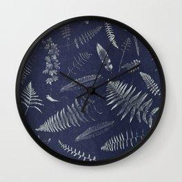 Botanical Fern Wall Clock
