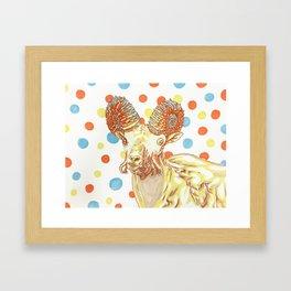 Ammonite Sheep Framed Art Print