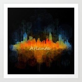 Atlanta City Skyline UHq v4 Art Print