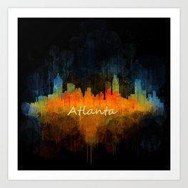 Atlanta City Skyline UHq v4 Art Print