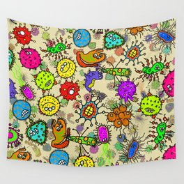 Doodle Germs Wall Tapestry