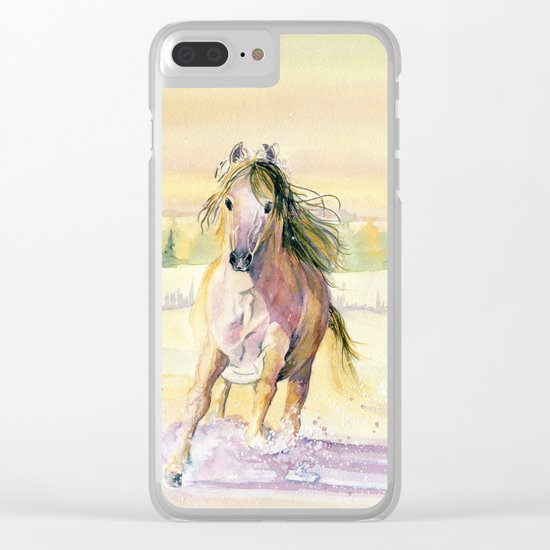 Golden Breeze Clear iPhone Case