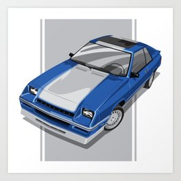 1983S L-Body Charger Blue Art Print