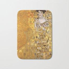 Gustav Klimt - Portrait d'Adele Bloch-Bauer I 1907 (new color rendition) Bath Mat