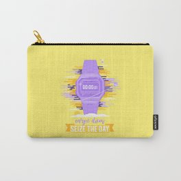 Carpe Diem - Sieze the Day [purple] Carry-All Pouch