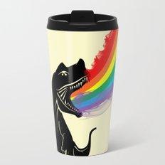 dinosaur rainbow Travel Mug