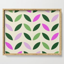 Leaves & Petals - Pink & Green Serving Tray