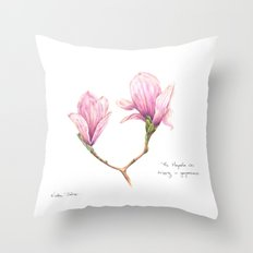The Magnolia was dripping in gorgeousness Throw Pillow