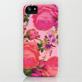 Sun Bleached Rose Print iPhone Case