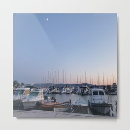 Harbor Vacation Boats Metal Print
