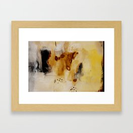 Abstract study on paper  Framed Art Print
