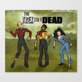 The Trekking Dead Canvas Print