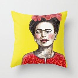 Frida Chinese New Year Throw Pillow