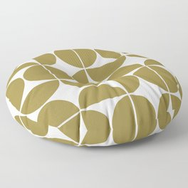 Mid Century Modern Geometric 04 Flat Gold Floor Pillow