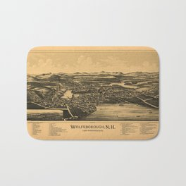 Aerial View of Wolfeborough, New Hampshire (1889) Bath Mat
